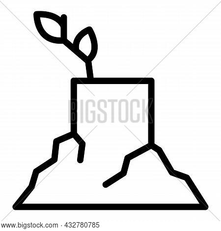 Tree Trunk Icon Outline Vector. Wood Stump. Cut Log