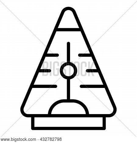 Table Pendulum Icon Outline Vector. Kinetic Clock. Foucault Magnet