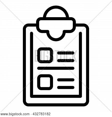 Task List Icon Outline Vector. Checklist Document. Form Inventory