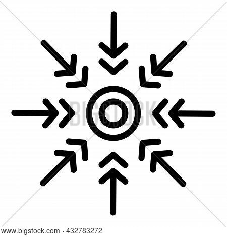 Creative Concentration Icon Outline Vector. Mind Development. Brain Innovation