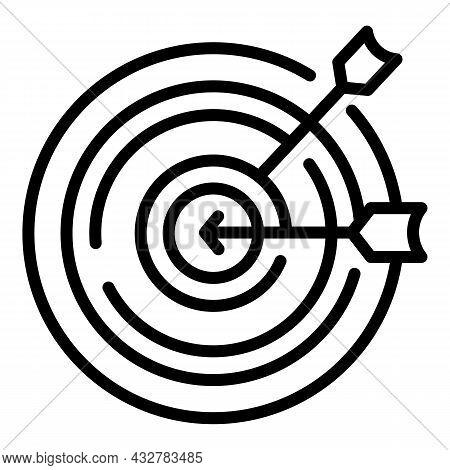 Target Arrow Icon Outline Vector. Business Dart. Goal Performance