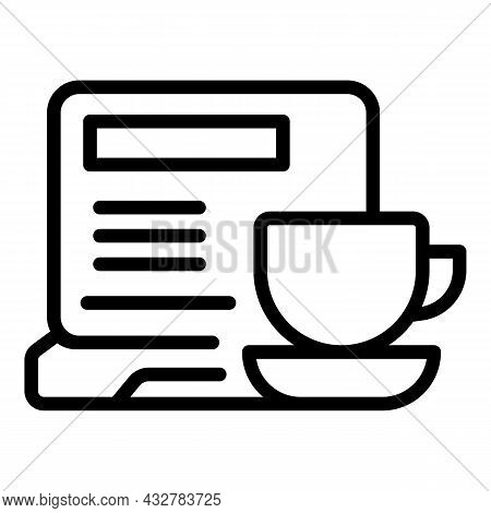 Office Workplace Icon Outline Vector. Work Desk. Employee Workstation