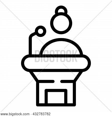 Concentration Trainer Icon Outline Vector. Business Leader. Training Leadership