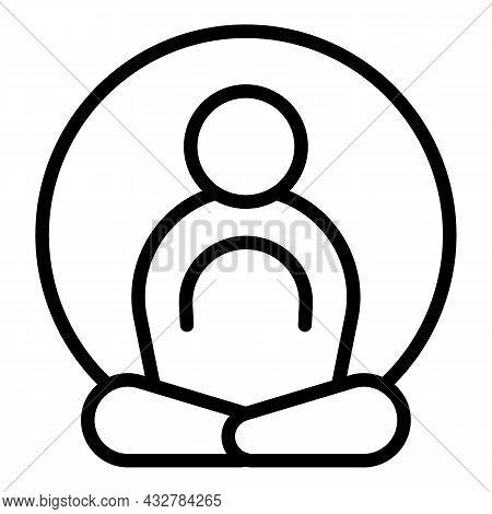 Energy Focus Meditate Icon Outline Vector. Health Mind. Spiritual Balance