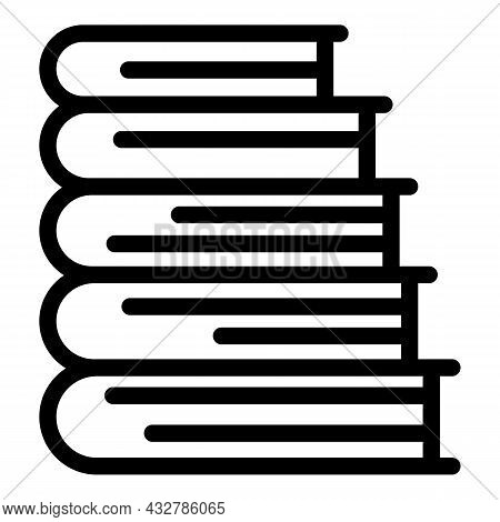 Books Stack Icon Outline Vector. Pile Textbook. School Library