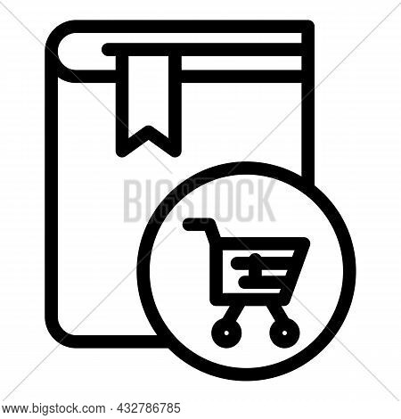 Order Book Icon Outline Vector. Library Textbook. Bookstore Document