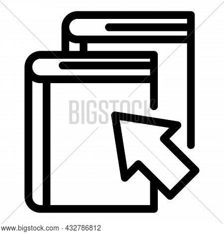 Book Select Icon Outline Vector. Buy Ebook. Option Catalog