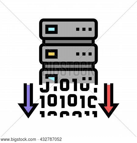 Data Security Color Icon Vector. Data Security Sign. Isolated Symbol Illustration