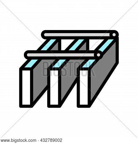 Bar Grating Metal Color Icon Vector. Bar Grating Metal Sign. Isolated Symbol Illustration