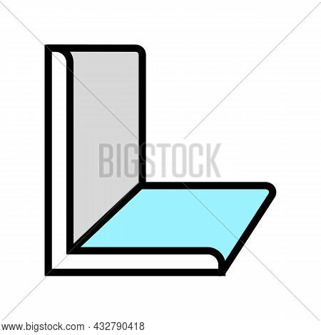 Angle Metal Profile Color Icon Vector. Angle Metal Profile Sign. Isolated Symbol Illustration