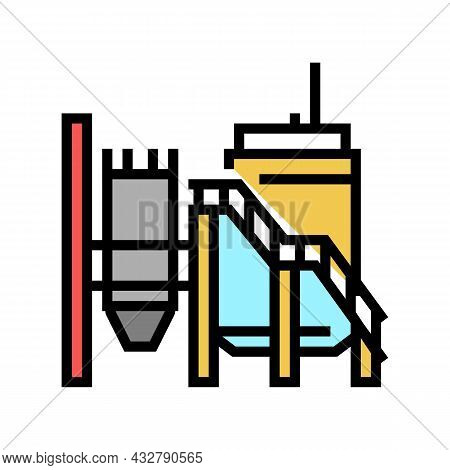 Mineral Processing Plant Color Icon Vector. Mineral Processing Plant Sign. Isolated Symbol Illustrat