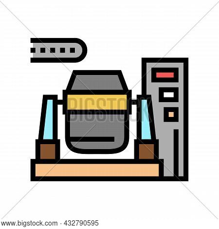 Iron Or Coal Processing Plants Color Icon Vector. Iron Or Coal Processing Plants Sign. Isolated Symb