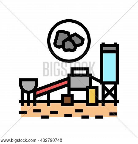 Coal Processing Plant Color Icon Vector. Coal Processing Plant Sign. Isolated Symbol Illustration