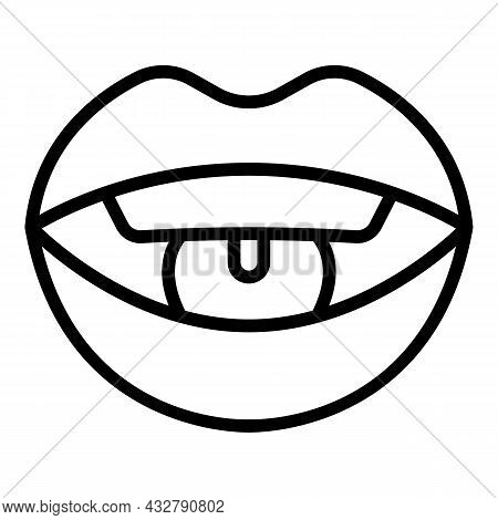 Training Articulation Icon Outline Vector. Speech Therapy. Language Development