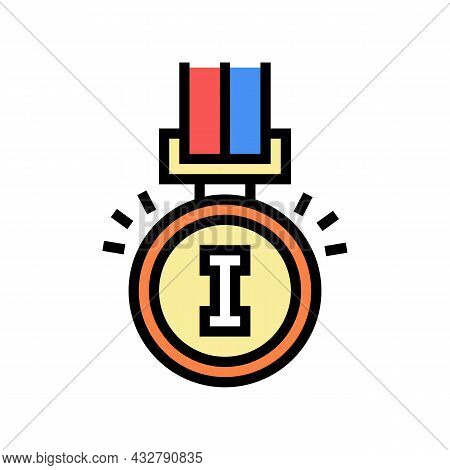 Champion Award Color Icon Vector. Champion Award Sign. Isolated Symbol Illustration