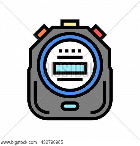 Stopwatch Device Color Icon Vector. Stopwatch Device Sign. Isolated Symbol Illustration