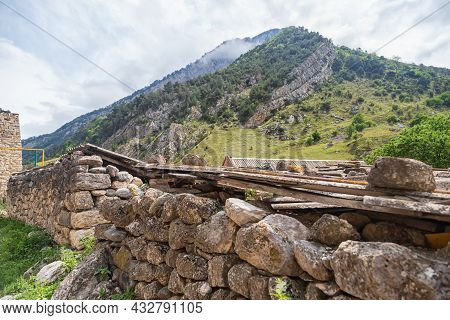 Ancient Masonry Made Of Large Stones Without Bonding Mortar In North Ossetia
