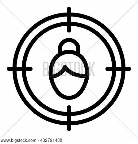 Focus Attention Icon Outline Vector. Mind Concentration. Head Target