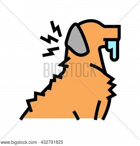Rabies Pet Disease Color Icon Vector. Rabies Pet Disease Sign. Isolated Symbol Illustration