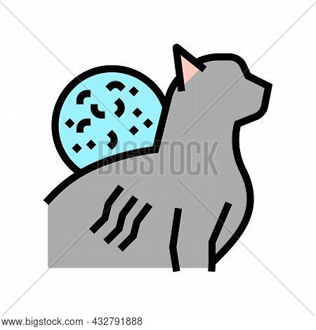 Cat Scratch Disease Color Icon Vector. Cat Scratch Disease Sign. Isolated Symbol Illustration