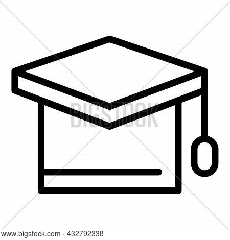 Learning Concentration Icon Outline Vector. Brain Psychology. Human Knowledge