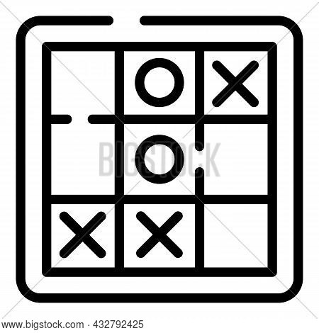 Logical Game Icon Outline Vector. Logic Activity. Task Puzzle