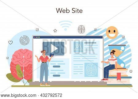 Psychology School Course Online Service Or Platform. School Psychologist