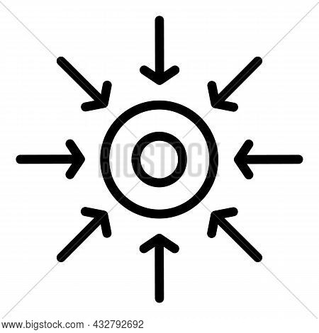 Improving Concentration Icon Outline Vector. Self Challenge. Business Power
