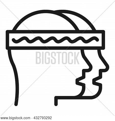 Memory Activity Icon Outline Vector. Brain Mind. Human Knowledge