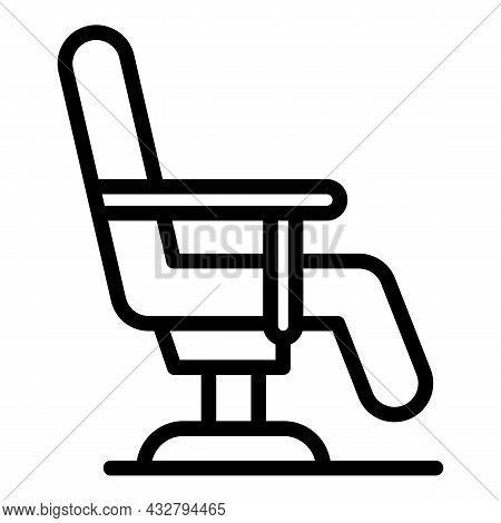 Parlor Chair Icon Outline Vector. Beauty Salon. Hairdresser Equipment