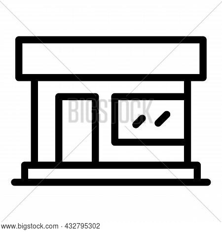 Parlor Building Icon Outline Vector. Beauty Salon. Barber Cabinet