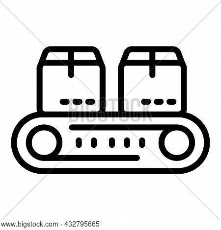 Package Shipping Icon Outline Vector. Delivery Service. Shipment Cargo