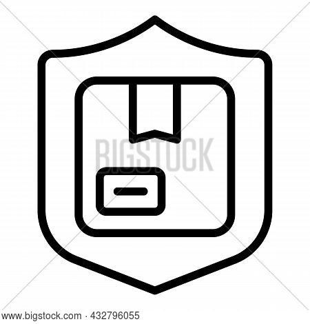 Safe Shipping Icon Outline Vector. Delivery Service. Safety Shipment