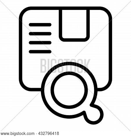 Search Package Icon Outline Vector. Cargo Delivery. Export Service