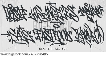 Hand Written Abstract Flat Hip Hop Urban Street Art Graffiti Style