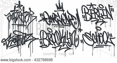 Abstract Hand Written Hip Hop Urban Street Art Graffiti Style Words