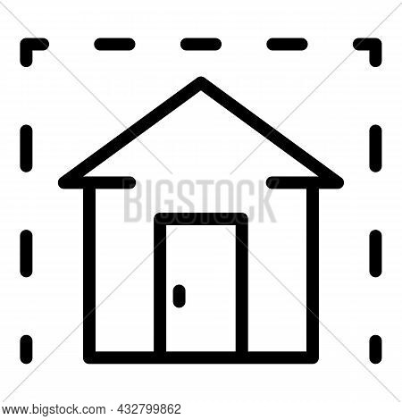 Stay Home Icon Outline Vector. People Safety. Safe Distance