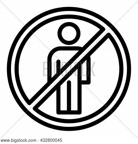 Avoid Person Icon Outline Vector. Social Safety. People Distance