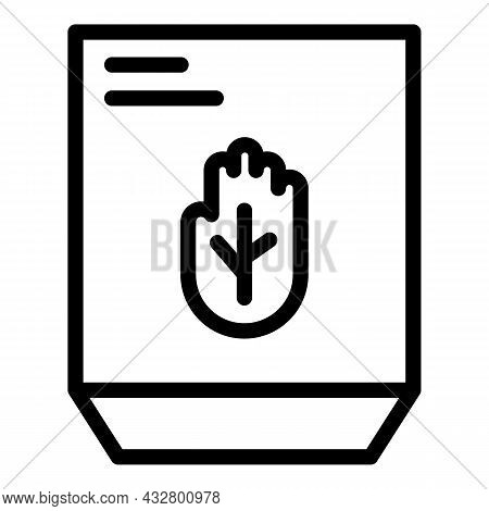 Palm Identification Icon Outline Vector. Biometric Recognition. Scan Verification