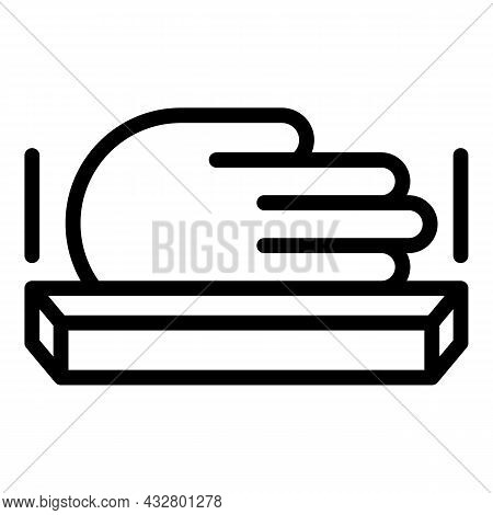 Handprint Recognition Icon Outline Vector. Palm Scanner. Biometric Scan