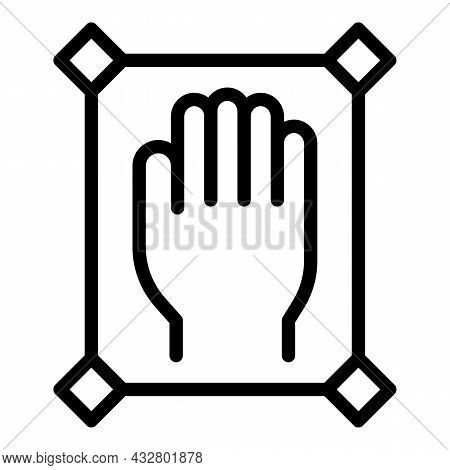 Control Palm Scanning Icon Outline Vector. Hand Recognition. Biometric Scan