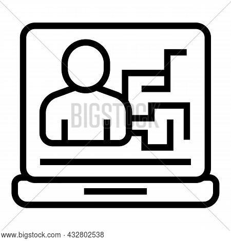 Computer Identification Icon Outline Vector. Access Verification. Recognition Capture