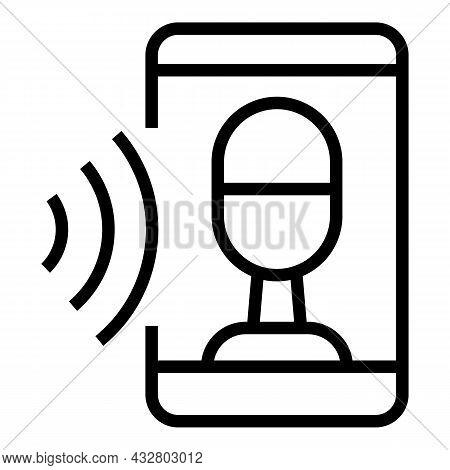 Voice Recognition Icon Outline Vector. Speech Command. Sound Verification