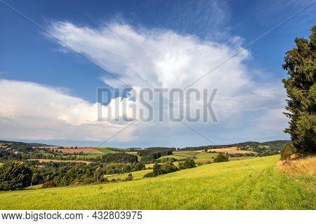 Amazing Rural Summer Countryside Near Jimramov City, Czech Republic, Europe