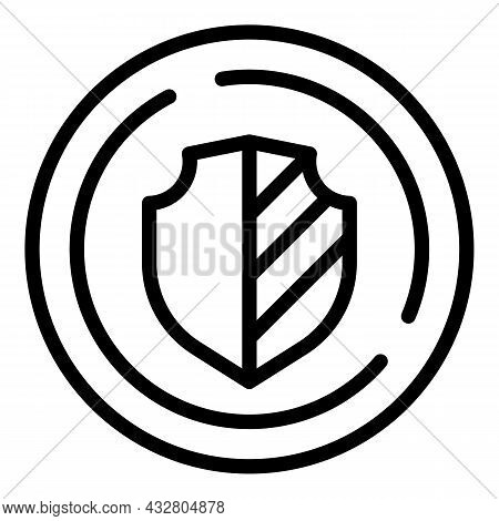 Shield Protection Icon Outline Vector. Protect System. Safety Guard