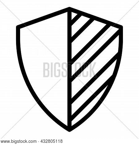 Privacy Shield Icon Outline Vector. Safety Guard. Antivirus Safeguard