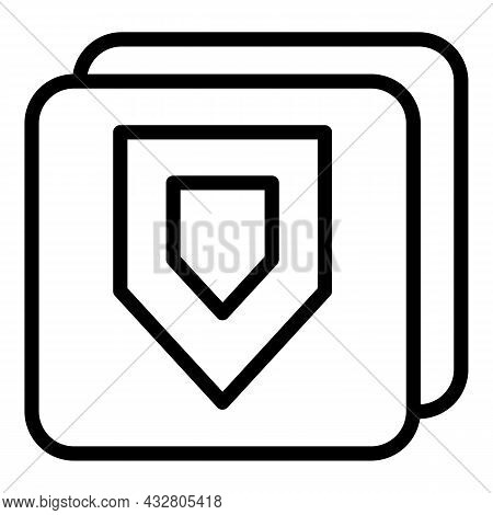 Shield Safety Icon Outline Vector. Protect Guard. Privacy Lock