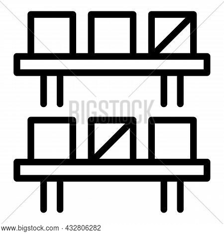 Mass Production Icon Outline Vector. Factory Assembly. Technology Conveyor