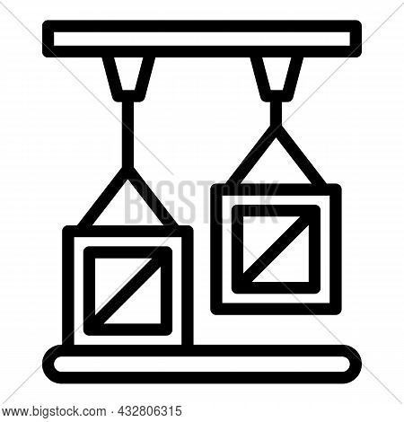 Batch Production Icon Outline Vector. Glass Factory. Industry Process