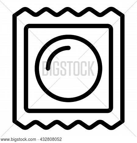 Condom Contraceptive Icon Outline Vector. Contraception Method. Birth Control